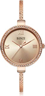 Bracelet Watch for Women Waterproof Quartz Trend Watch Crystal Rhinestone Jewelry Watch for Girls - BZ2704