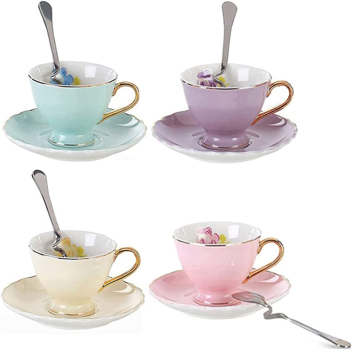 YBK Tech Euro Style Espresso Cup and Bone China High material Set Brand Cheap Sale Venue 4 of Saucer