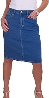 icecoolfashion Stretch Denim Jeans Skirt Soft Smooth Wash 10-22
