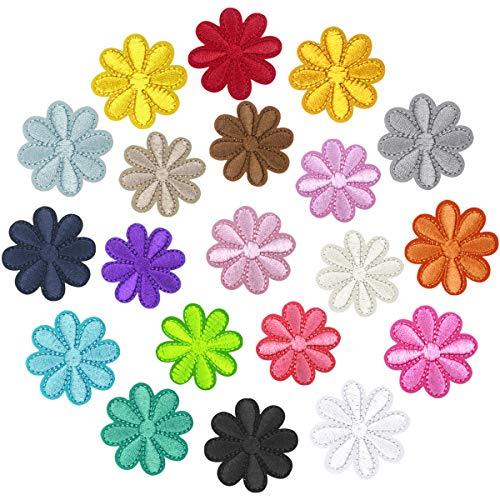Disino Patches zum Aufbügeln Oder Nähen Patches Sticker, Iron on Flicken Blumen Aufnäher Bügelflicken Set, DIY Kleidung Patches Aufkleber für Jeans Hosen Jacken T-Shirt Taschen (Sonne)