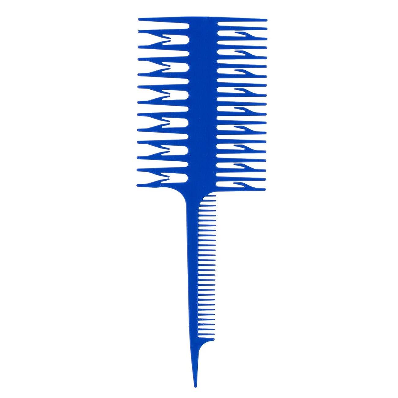 重力にはまって八perfk 染色櫛 染色コーム ハイライトコーム くし 櫛 3ウェイ ヘアコーム ヘアカラー 全3色選べる  - 青