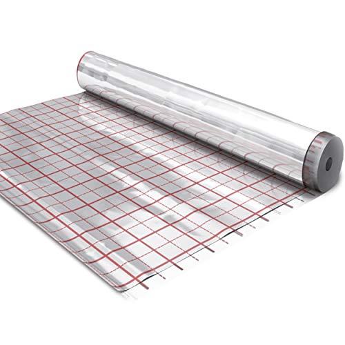 doitBau Rasterfolie 50m² Fußbodenheizung Isolier Alu Folie Aluminium Fußboden