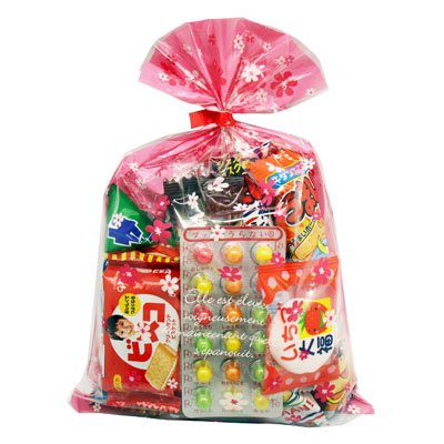 花柄袋 295円 お菓子 詰め合わせ (Bセット) 駄菓子 袋詰め おかしのマーチ