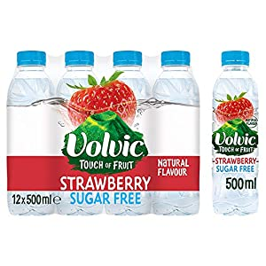 Volvic Touch of Fruit Sugar Free Strawberry Flavoured Water, 12 x 500 ml