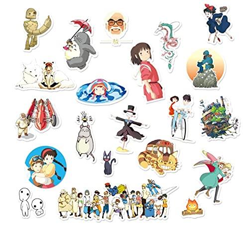 Hayao Miyazaki Animation Collection Linda Personalidad Equipaje Maleta Pegatina Trolley Case Laptop Sticker Impermeable 21pcs