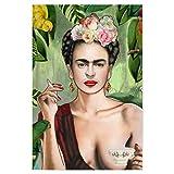 artboxONE Poster 30x20 cm Frida Kahlo Menschen Frida Con