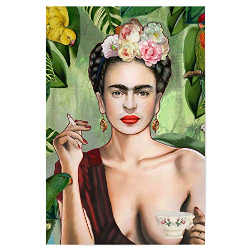 artboxONE Poster 30x20 cm Frida Kahlo Menschen Frida Con Amigos - Bild Frida Kahlo Dschungel Frida