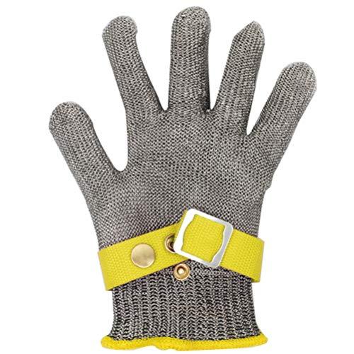 Schnittfeste Handschuhe-XHZ Gants de Travail de sécurité de Boucher en treillis métallique Anti-Coupure simples en Acier inoxydable Pour Couper et éplucher l'argent, Taille: XL (Size : X-Large)