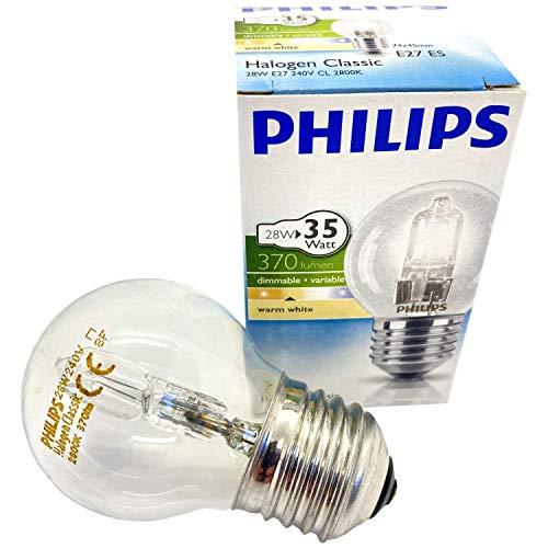 Weigand Philips Glühlampe Halogen 28 Watt E27 I Neu seit Februar 2021 I Für den Einsatz in der Sauna I Glühbirne I Beleuchtung I Saunazubehör I Leuchte I Lampe I Saunalampe I Leuchtmittel I 28 Watt