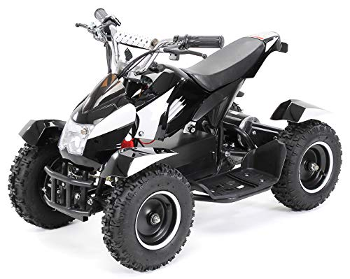 Mini Kinder Elektro Quad ATV Cobra 800 Watt 36 V Pocket Quad - Original Actionbikes Motors - Saftey Touch - Kinder E Bike (Schwarz/Weiß)