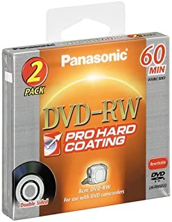 Panasonic LM-RW60U2 8CM DVD-RW Double Sided Disc (60 minutes, 2 Pack)
