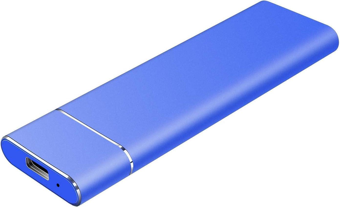 Portable 1TB 2TB External Hard Drive -USB 3.1 Type C Ultra Slim Hard Drive External Storage Compatible for Mac, PC, Laptop (2TB-Blue)