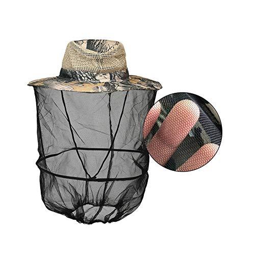 Rubyu Professionelle Bienenschutz Imker Hut Anglerhut Moskitoschutz Outdoor Kopfschutz und Gesichtsschutz Netzhut Bienenschutz Hut mit Abnehmbarem Schleier Tarnung