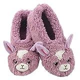 Snoozies Womens Slippers Animal Furry Foot Pals - Llama-2019 - Medium