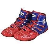 JJK Botas De Lucha De Los Hombres, Transpirable Boxeo Botas No-Deslizan Los Zapatos De Formación Profesional Unisex Adultos Jóvenes Ligera De Cuero Zapatos De Artes Marciales,A,44