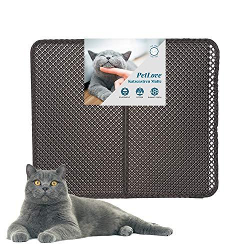 PetLove Tappetino per lettiera per gatti, con design a diamante, 70 x 60 cm
