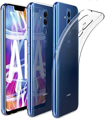 Captor Cover Trasparente per Huawei Mate 20 Lite, Custodia TPU in Silicone Flessibile Morbida e Sottile, Protezione Full Body con Bordo Rialzato per Schermo e Fotocamera