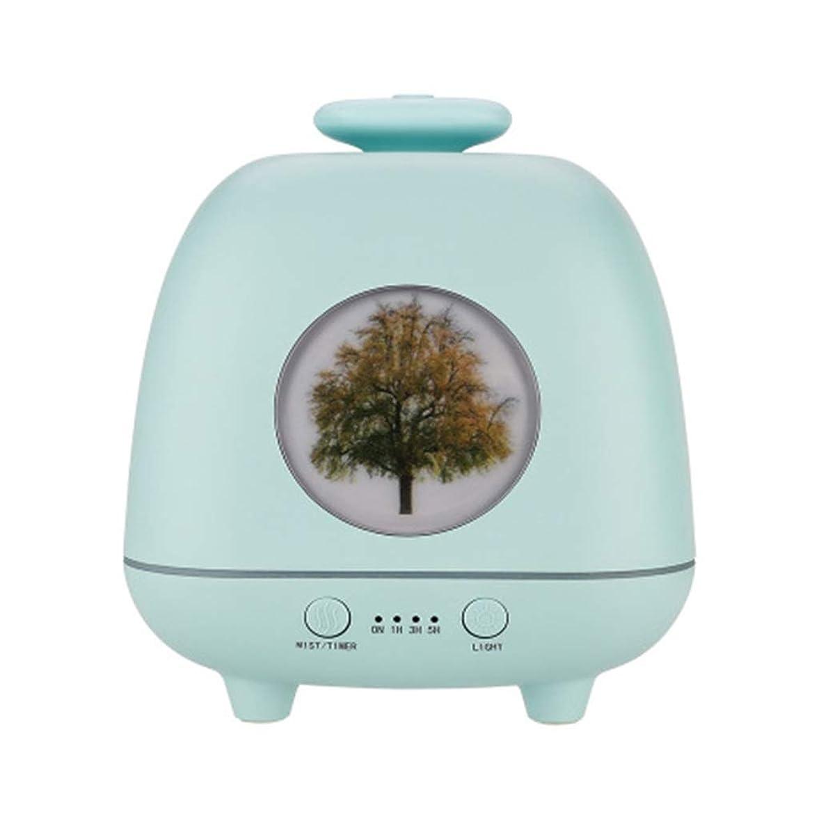 スキニー農場これら超音波ホームデスクトップクリエイティブ雰囲気ナイトライト加湿器寝室の赤ちゃん女性の家の装飾 (Color : Green)