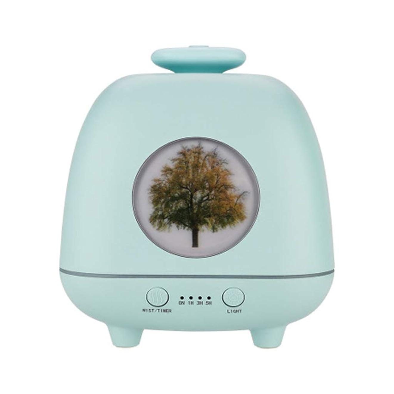 原油政令乏しい超音波ホームデスクトップクリエイティブ雰囲気ナイトライト加湿器寝室の赤ちゃん女性の家の装飾 (Color : Green)