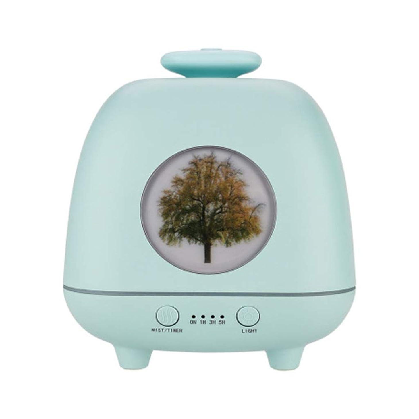 一族逆驚き超音波ホームデスクトップクリエイティブ雰囲気ナイトライト加湿器寝室の赤ちゃん女性の家の装飾 (Color : Green)