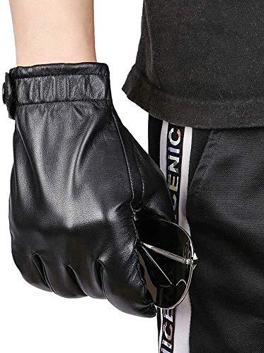 Guantes para hombre Los guantes de cuero de la motocicleta de conducción de sección ligera pantalla táctil de piel de oveja de pantalla táctil Guantes Guantes de los hombres de cuero de los hombres de