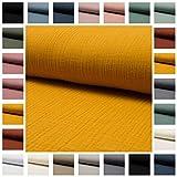 Stoff Musseline Double Gauze UNI in vielen Farben -