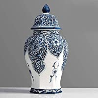 手作り 花瓶中国の明るスタイルの植木鉢装飾セラミックアンティーク家の装飾リビングルーム事務所装飾飾り花瓶QFショップ (Color : B)