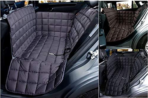 Doctor Bark Hunde 2-Sitz-Autoschondecke für die Rücksitzbank, All-Side Schutz mit Reißverschluss für alle PKWs und SUVs, S in Grau