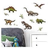 Little Deco Wandaufkleber Dinosaurier I Wandbild 122 x 81 cm (BxH) I T-Rex Wandsticker Wandtattoo Jungen Kinderzimmer Deko Flugsaurier Bild Sticker Aufkleber DL478