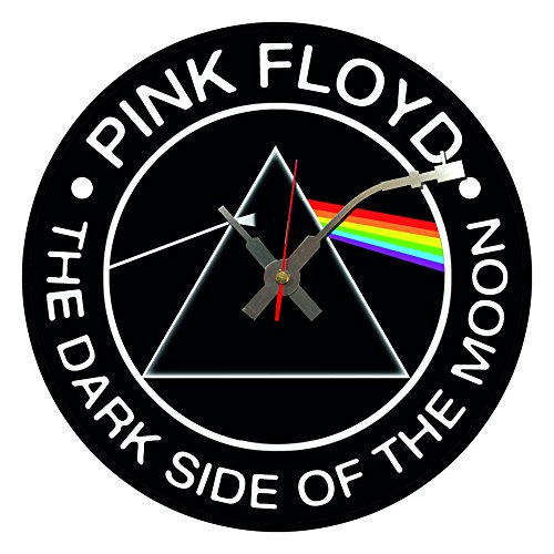 Orologio da parete a forma di disco in vinile dell'iconico album dei Pink Floyd, The Dark Side of the Moon