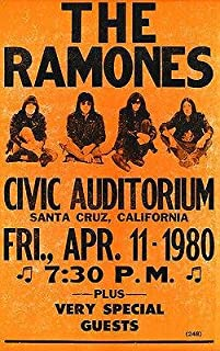 The Ramones - 1980 - Santa Cruz California - Concert Poster
