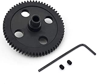 Sdoveb Upgrade Spur Diff Metal Reduction Gear Spare Part for Wltoys 1/12 12428 12423 RC Car (Black)