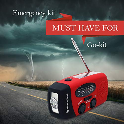 Product Image 3: [Upgraded Version] RunningSnail Emergency Hand Crank Self Powered AM/FM NOAA Solar Weather Radio with LED Flashlight, 1000mAh Power Bank for iPhone/Smart Phone