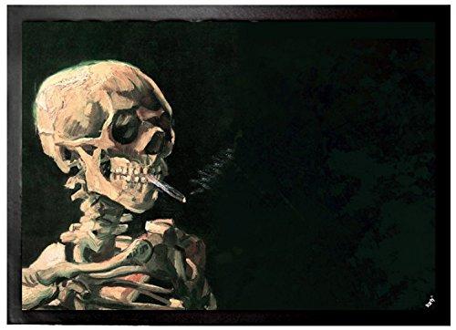 1art1 Vincent Van Gogh - Cráneo Fumando Un Cigarrillo, 1886 Felpudo Alfombra (70 x 50cm)