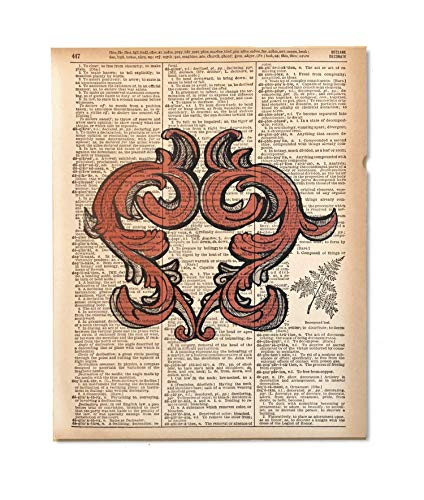 Heartly Red Upcycled Vintage Dictionary Art Print 8x10 UNFRAMED Love Collection