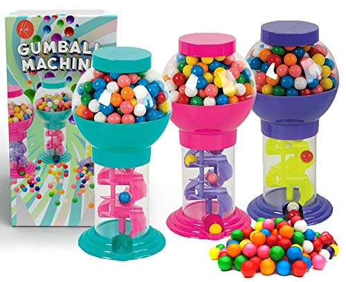Kicko Twirling Gumball Machines  3 Pack  975 Inch  Galaxy Candy Dispenser  for Birthdays Kiddie Parties Christmas Novelties Kitchen Buffet Party Favors and Supplies