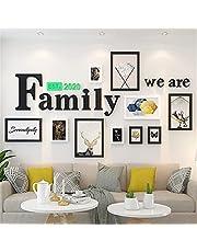 OLDJTK Family Photo Picture Frames Set Wall Collage Fondo de la Sala Decoraciones Galería Kit
