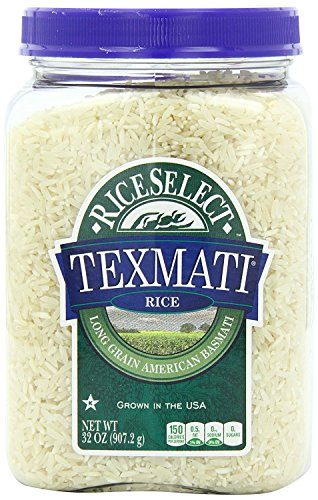 RiceSelect Texmati White Rice 32Ounce Jars 4Count