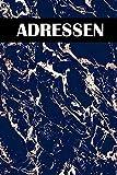Adressen: Adressbuch fr Senioren mit Register von A-Z