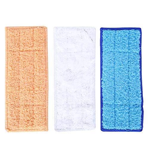 Fictory Wischpads, 3 Stück Faserwischpads Waschbares wiederverwendbares trockenes Nassreinigungstuch Passend für iRobot240 241