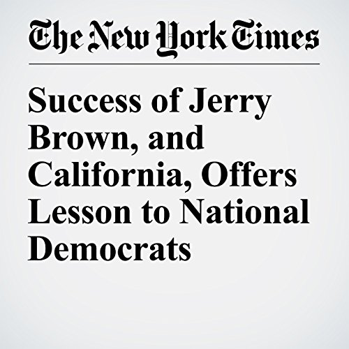 Success of Jerry Brown, and California, Offers Lesson to National Democrats audiobook cover art