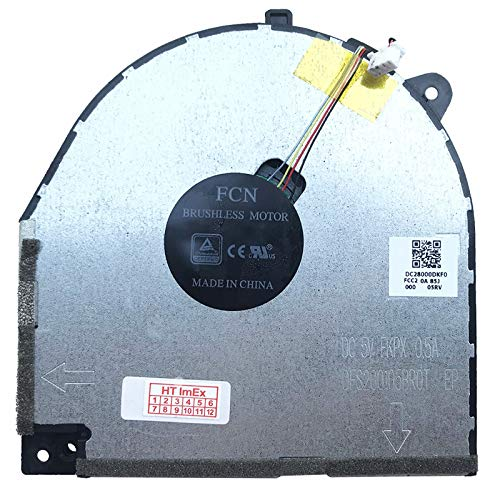 (Verison 2) Ventola Fan Cooler Compatibile con Lenovo Legion Y530-15ICH (81FV00WFGE), Y530-15ICH (81FV017XGE), Y530-15ICH (81LB001DMZ), Y530-15ICH (81LB0033GE)