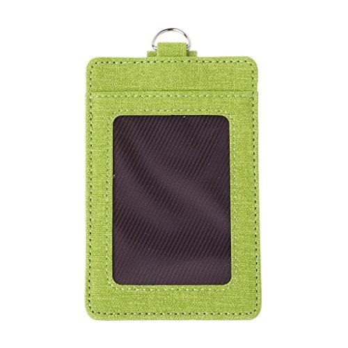 SimpleLife Kreditkarteninhaber Männer schlanke Brieftasche für Frauen - RFID-Blockierung, Ausweisinhaber, ID-Fenster-Kartenhalter Office Bus-Kartenetui mit Schlüsselring