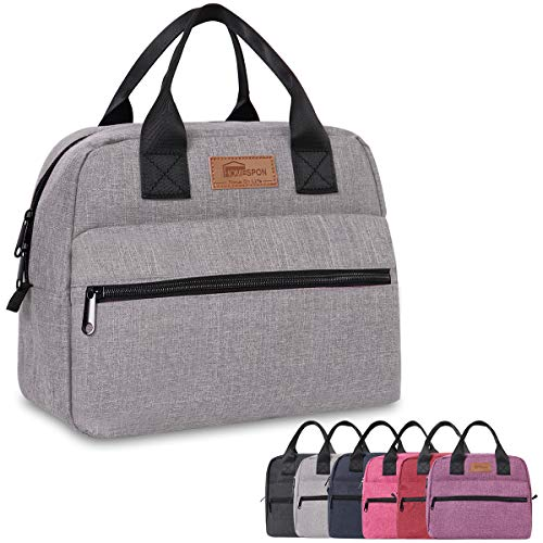Homespon - Sac isotherme repas couleur gris