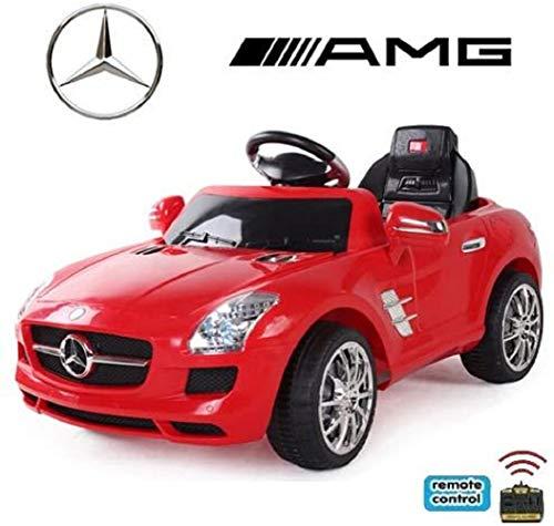 RC Auto kaufen Kinderauto Bild 5: crooza *2X Motoren* Soft-Start Original Mercedes-Benz AMG SLS Lizenz Kinderauto Kinderfahrzeug (ROT)*