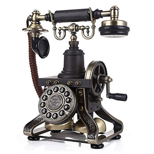 MHTCJ Harz Nachahmung Kupfer Vintage-Stil Rotary Retro altmodische Wählscheibe Home und Büro Telefon (Color : Rotary Dialing)