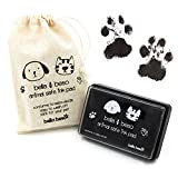 Katzen- und Hundepfotenabdruck-Set – tiersichere Tinte, mit Kordelzugbeutel