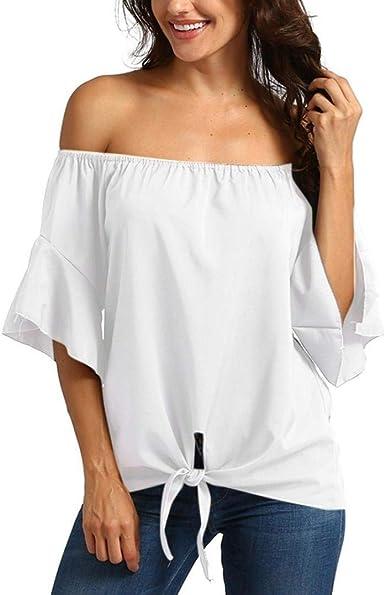 Blusas Ladies Off Shoulder Camisas De Manga Larga Sueltas ...