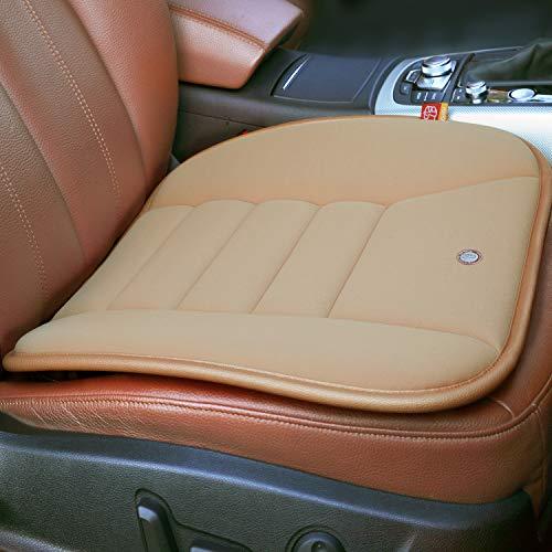 RaoRanDang Car Seat Cushion Pad For Car Driver Seat Office Chair Home Use Memory Foam Seat Cushion, Khaki