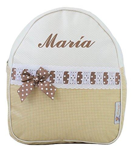 Mochila Infantil Personalizada con el Nombre Bordado (María)